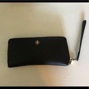 Tory Burch Large Black Wallet